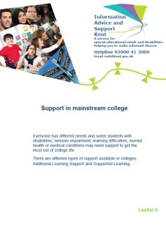 THUMBNAIL 9. Support in mainstream college