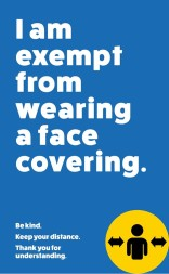 Image of face covering exemption badge.